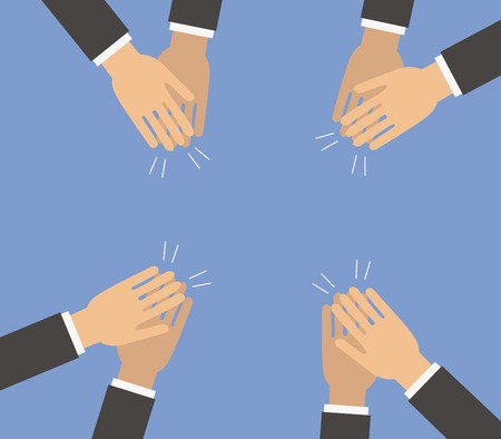 Everyone clapping hands vector