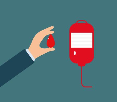 Blood donation vector Ilustração