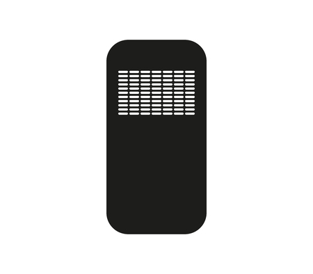 Police icon riot shield isolated on plain background. Ilustrace