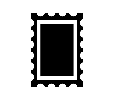 Post stamp frame icon isolated on plain background. Vettoriali