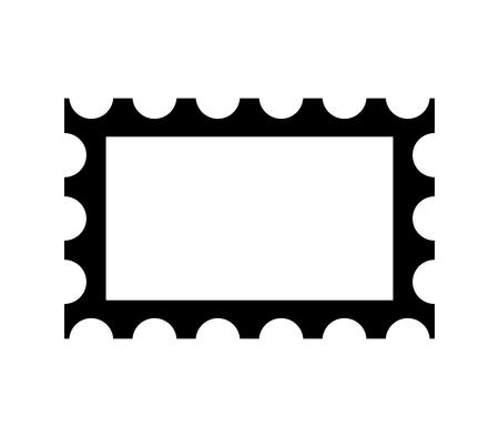 Post stamp frame icon isolated on plain background. Ilustrace