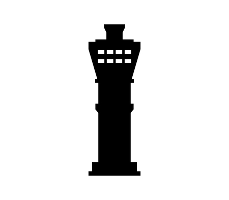 An airport tower icon isolated on plain background.