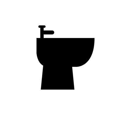Bidet icon illustration on white background. Illustration