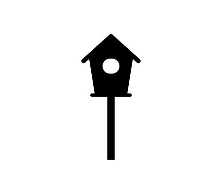 Bird house icon. Çizim