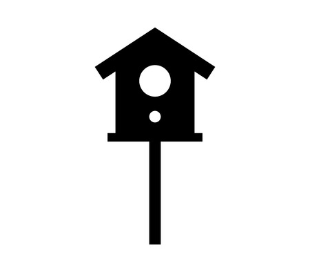 Bird house icon. 일러스트