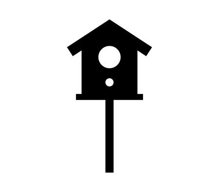 Bird house icon. Illustration