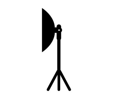 Studio lighting equipment icon.