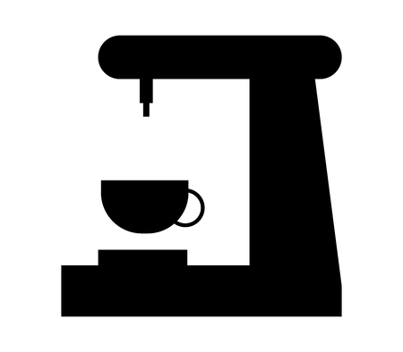 Black coffee maker icon