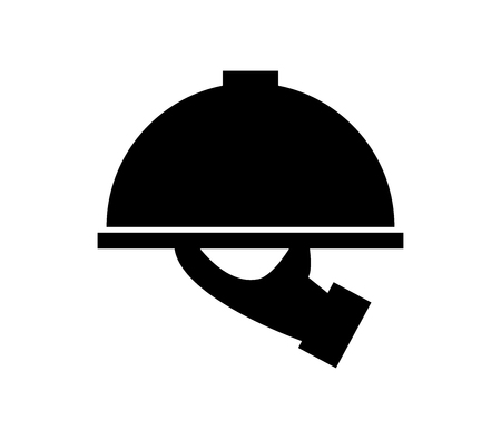 Tray icon with waiter Standard-Bild - 96584771
