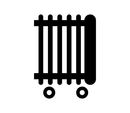 Electric radiator icon