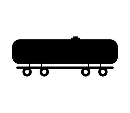 Railroad tank wagon icon.