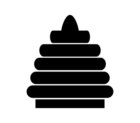 Toy pyramid icon.