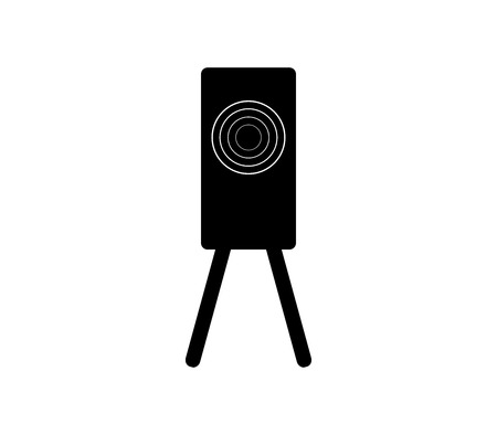 Training target shooting icon Ilustração