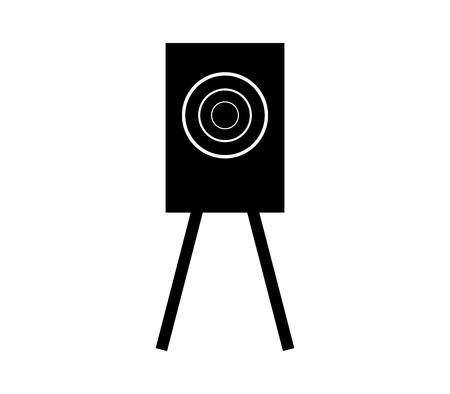 Training target shooting icon. Ilustração