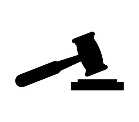 Hammer of a judge icon. Illustration