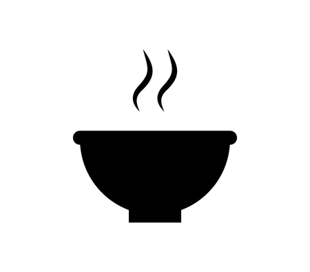 Hot food bowl icon.