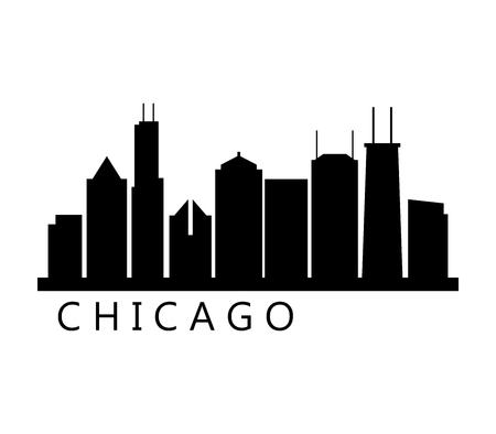 chicago skyline 일러스트