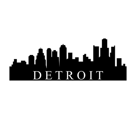 202 detroit skyline stock vector illustration and royalty free rh 123rf com