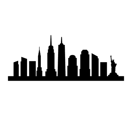 new york skyline Illusztráció