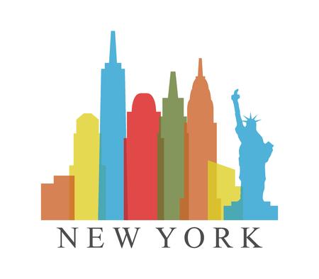 new york skyline  イラスト・ベクター素材