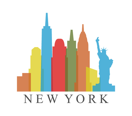 new york skyline 일러스트