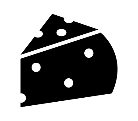 A cheese icon isolated on plain background.