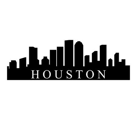 A Houston skyline isolated on plain background.
