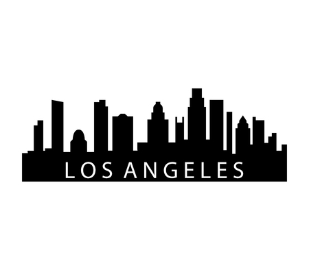 A Los Angeles skyline isolated on plain background.  イラスト・ベクター素材