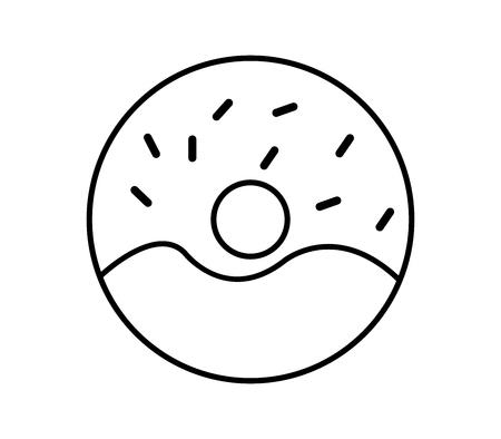 donut icon Stock Illustratie
