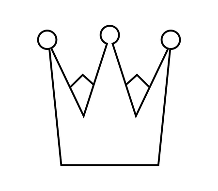 Crown outline icon. 矢量图像