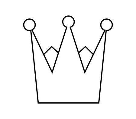 Crown outline icon. Stock Illustratie