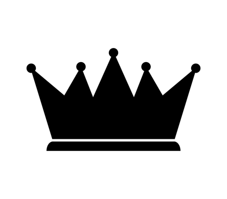 Crown icon black isolated on white background