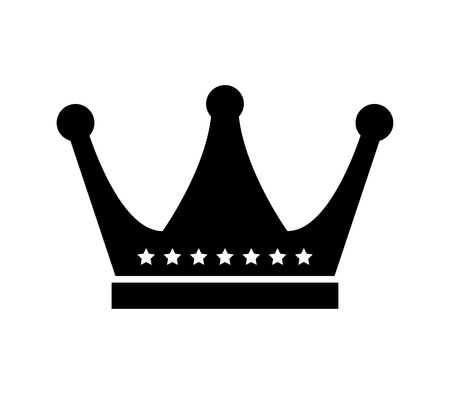 Crown icon silhouette isolated on white background