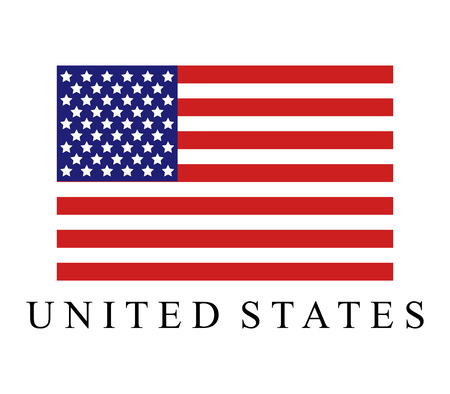 United States flag icon. Stok Fotoğraf - 98363617
