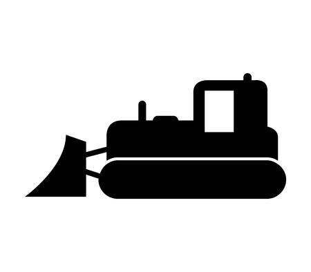 Bulldozer icon vector illustration