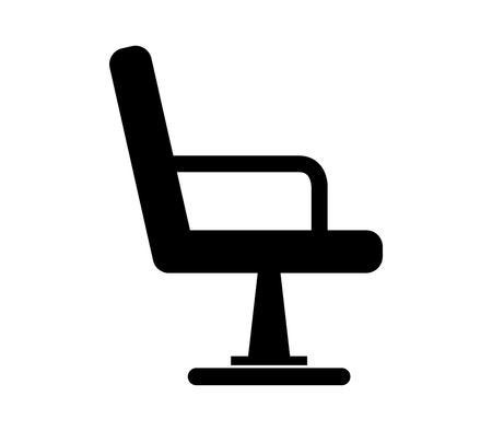 barber chair icon Illustration