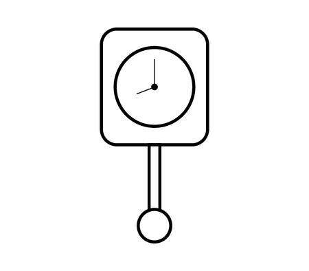 pendulum clock icon Ilustrace