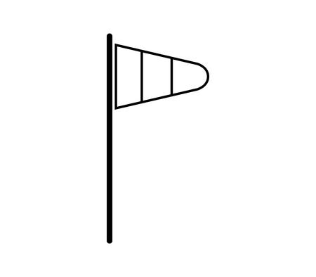 wind flag icon Illustration