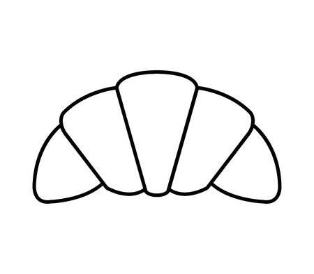 icono croissant Ilustración de vector