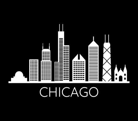chicago skyline 向量圖像