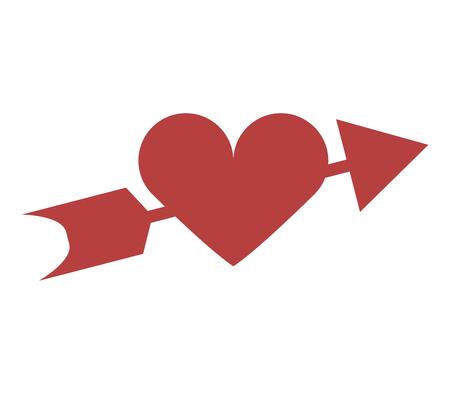 heart icon with valentines arrow Ilustração