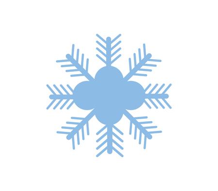 copo de nieve sobre fondo blanco Ilustración de vector