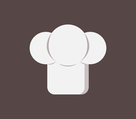 chef hat icon on white background