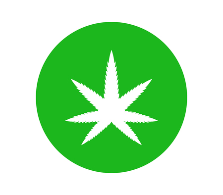 hemp icon on white background Illustration