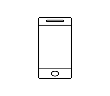 smartphone icon on white background