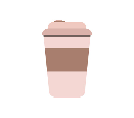 coffee cup icon on white background Banque d'images - 117272315
