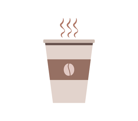 coffee cup icon on white background