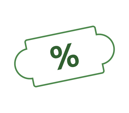 discounts icon on white background Stock Illustratie