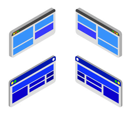 isometric browser Vettoriali