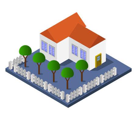 isometric house Vettoriali
